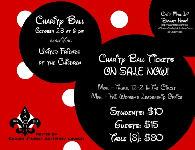 "Charity Ball 2014, ""When You Wish Upon a Star,"" is scheduled for Oct. 23 at the Campus Center. All proceeds will benefit United Friends of the Children, an organization helping foster youth."